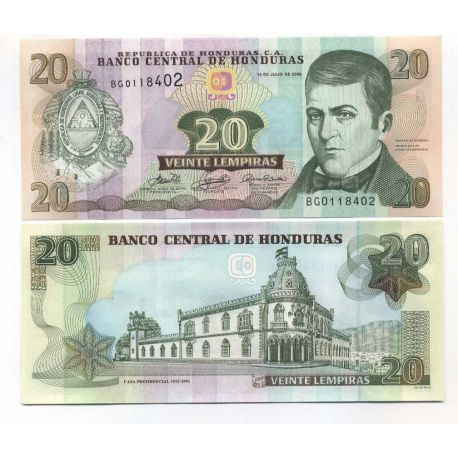 Billets de collection Billets collection Honduras Pk N° 87 - 20 Lempiras Billets du Honduras 8,00 €
