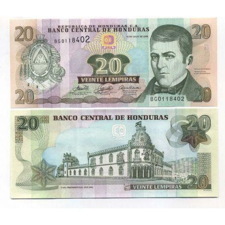 Honduras - Pk N° 87 - Billet de 20 Lempiras
