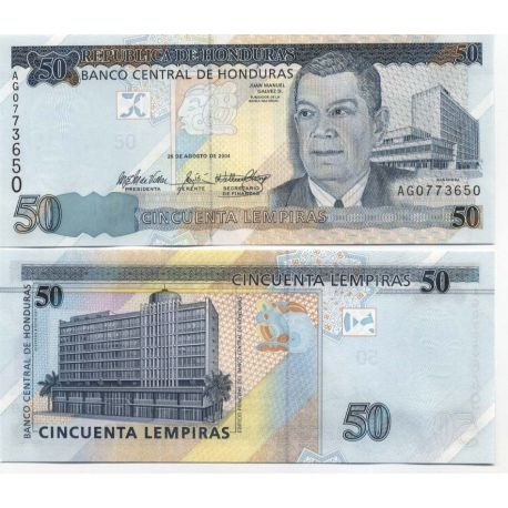 Billet de collection Honduras Pk N° 88 - 50 Lempiras