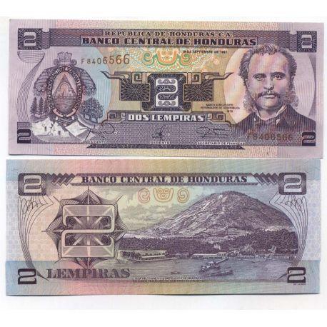 Billet de banque HONDURAS Pk N° 80 - 2 Lempiras