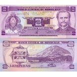 Banknote collection Honduras Pick number 72 - 2 Lempira