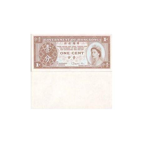 Hong Kong - Pk N° 325 - Billet de 1 Cent