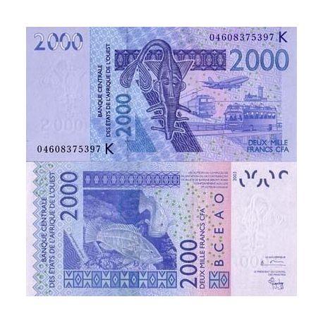 Afrique De L'ouest Senegal - Pk N° 716 - Billet de 2000 Francs