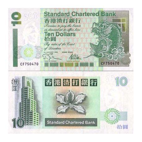 Billets de banque Hong Kong Pk N° 284 - 10 Dollars