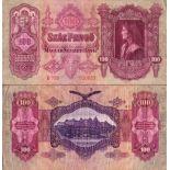 Precioso de billetes Hungría Pick número 98 - 100 Forint