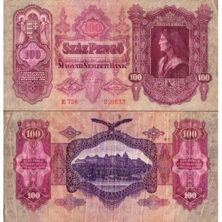 Hongrie - Pk N° 98 - Billet de 100 Pengo
