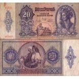 Billet de banque Hongrie Pk N° 109 - 20 Pengo