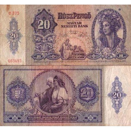 Hongrie - Pk N° 109 - Billet de 20 Pengo
