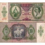 Billets de banque Hongrie Pk N° 100 - 10 Pengo