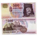 Banknoten Sammlung Ungarn Pick Nummer 188 - 500 Forint