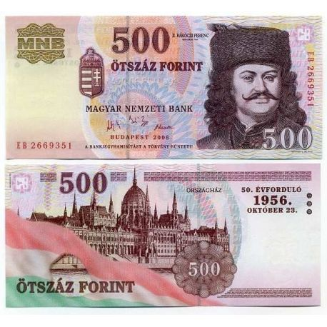 Billet de banque Hongrie Pk N° 194 - 500 Forint