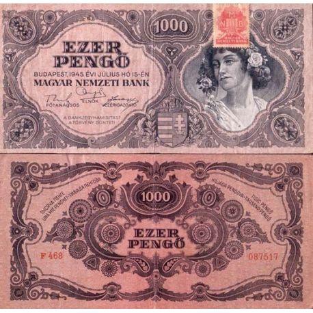 Billets banque Hongrie Pk N° 118 - 1000 Pengo