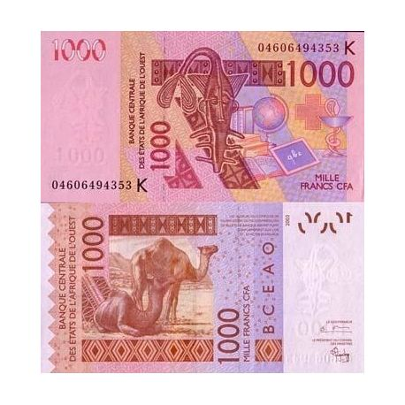 West Africa Senegal - Pk # 715 - ticket 1000 Francs
