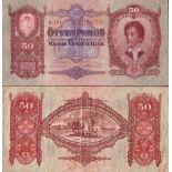 Sammlung von Banknoten Ungarn Pick Nummer 99 - 50 Forint