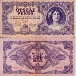 Banknote collection Hungary Pick number 117 - 500 Forint
