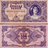 Billets de banque Hongrie Pk N° 117 - 500 Pengo