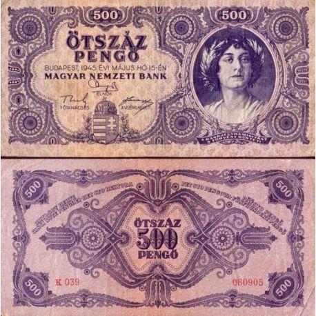 Hongrie - Pk N° 117 - Billet de 500 Pengo