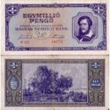 Banknote Hungary Pick number 122 - 1000000 Forint