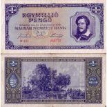 Los billetes de banco Hungría Pick número 122 - 1000000 Forint