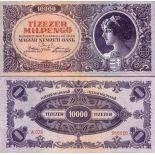 Precioso de billetes Hungría Pick número 126 - 10000 Forint