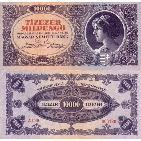 Billet de collection Hongrie Pk N° 126 - 10000 Pengo