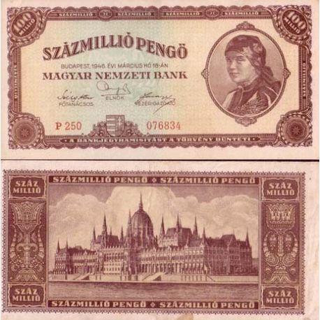Hongrie - Pk N° 124 - Billet de 100 MILLIONS Pengo