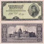 Banknote collection Hungary Pick number 130 - 100000000 Forint