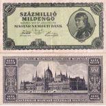 Billet de collection Hongrie Pk N° 130 - 100000000 Pengo