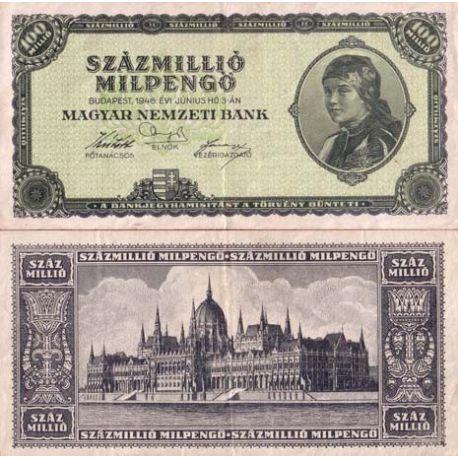 Hongrie - Pk N° 130 - Billet de 100 Millions Pengo