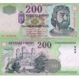 Los billetes de banco Hungría Pick número 178 - 200 Forint