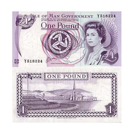 Billet de banque Ile de man Pk N° 40 - 1 Pound