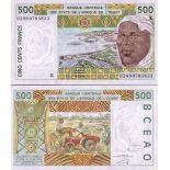 Banknote Senegal Pick number 710 - 500 FRANC 1991