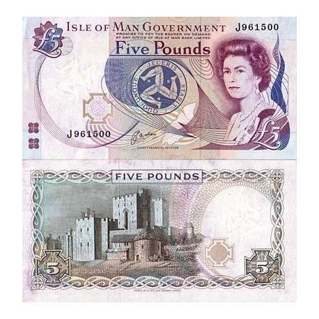 Billets banque Ile de man Pk N° 41 - 5 Pound