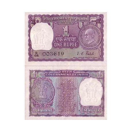 Billets de collection Billets banque Inde Pk N° 66 - 1 Ruppee Billets d'Inde 4,00 €
