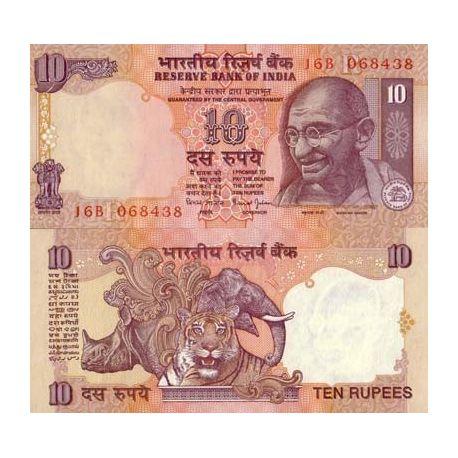 Billets de collection Billet de collection Inde Pk N° 89 - 10 Ruppe Billets d'Inde 2,00 €