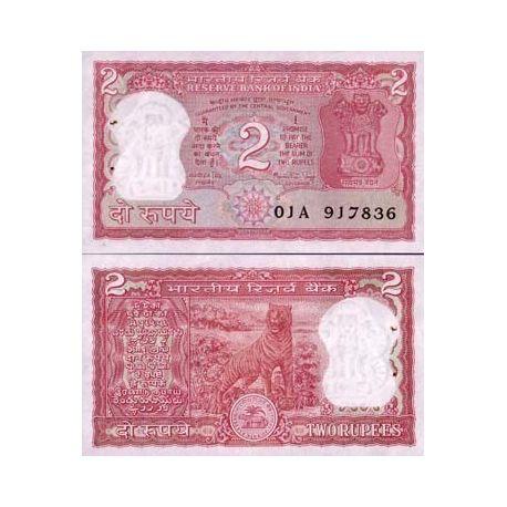 Billets de collection Billet de banque Inde Pk N° 51 - 2 Rupees Billets d'Inde 4,00 €