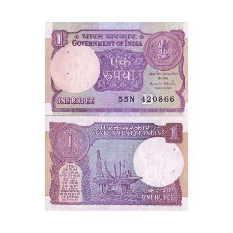 Inde - Pk N° 78 - Billet de 1 Rupee