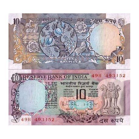 Billets de collection Billets de banque Inde Pk N° 81C - 10 Ruppees Billets d'Inde 19,00 €