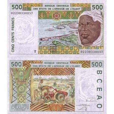 Billets de collection Billets banque Afrique De L'ouest Togo Pk N° 810 - 500 Francs Billets du Togo 10,00 €