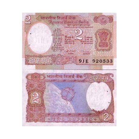 Billets de collection Billets de banque Inde Pk N° 79 - 2 Rupees Billets d'Inde 2,00 €