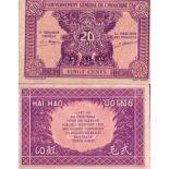 Bello banconote indocina Pick numero 90 - 20 Piastre