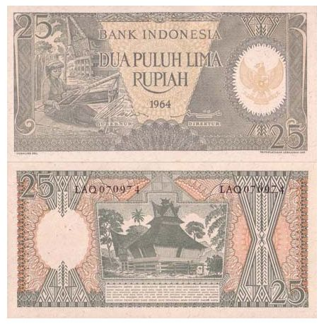 Billet de collection Indonesie Pk N° 95 - 25 Rupiah