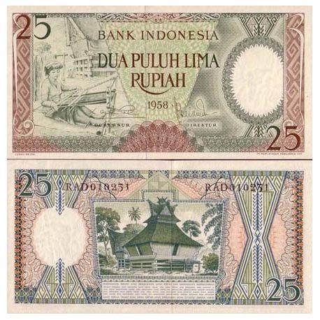 Billet de collection Indonesie Pk N° 57 - 25 Rupiah