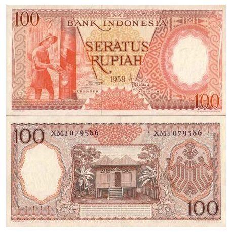 Billet de banque Indonesie Pk N° 59 - 100 Rupiah