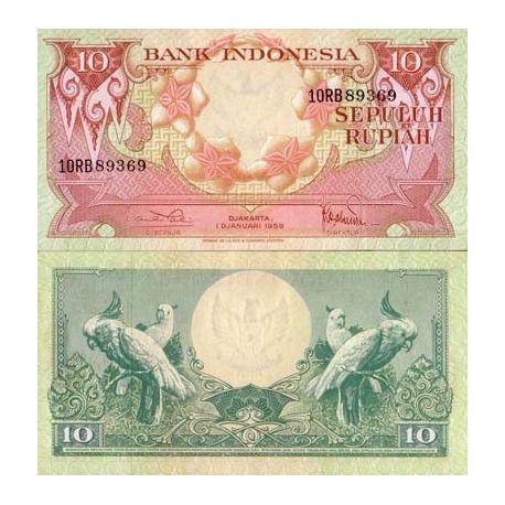 Billet de collection Indonesie Pk N° 66 - 10 Rupiah