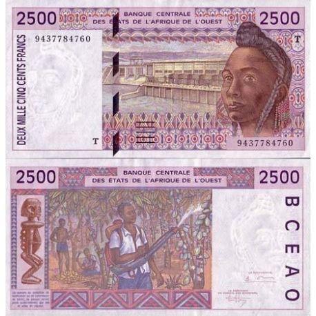 Billets de collection Billets de banque Afrique De L'ouest Togo Pk N° 812 - 2500 Francs Billets du Togo 26,00 €