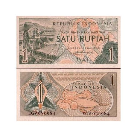 Billet de banque Indonesie Pk N° 78 - 1 Rupiah