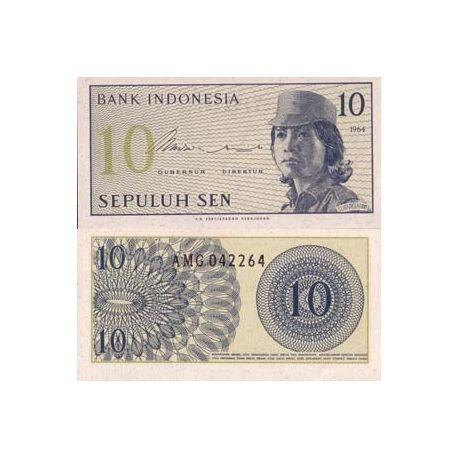 Billets banque Indonesie Pk N° 92 - 10 Sen