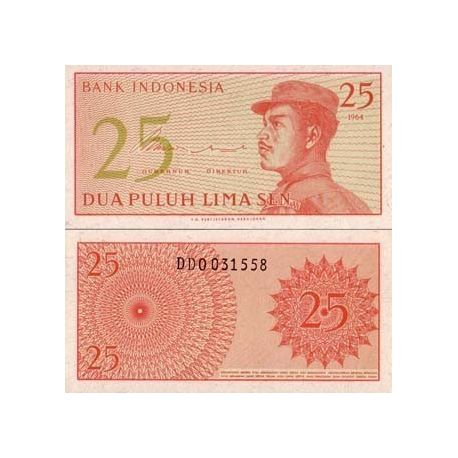 Indonesie - Pk N° 93 - Billet de 25 Sen