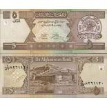 Banknoten Afghanistan Pick Nummer 66 - 5 Afghani 2002